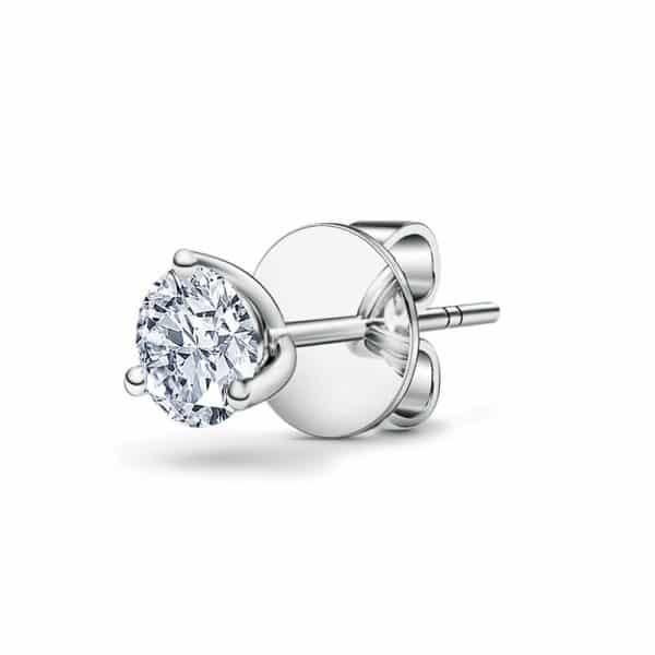 Perhiasan emas berlian white gold 18K diamond gemstone earring trinity