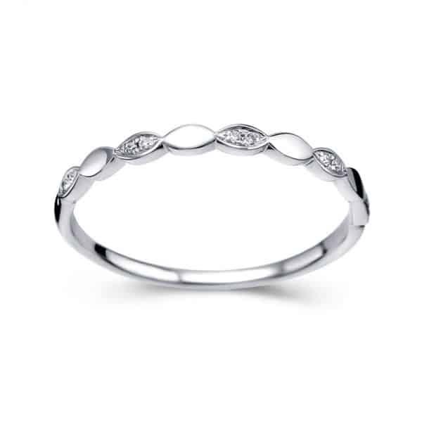 Tiaria Perhiasan cincin emas berlian White Gold 18K Diamond Heartbeat
