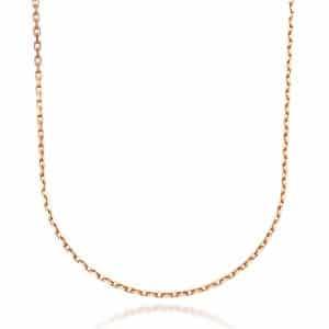 Perhiasan emas berlian white gold 18K Italiano Necklace