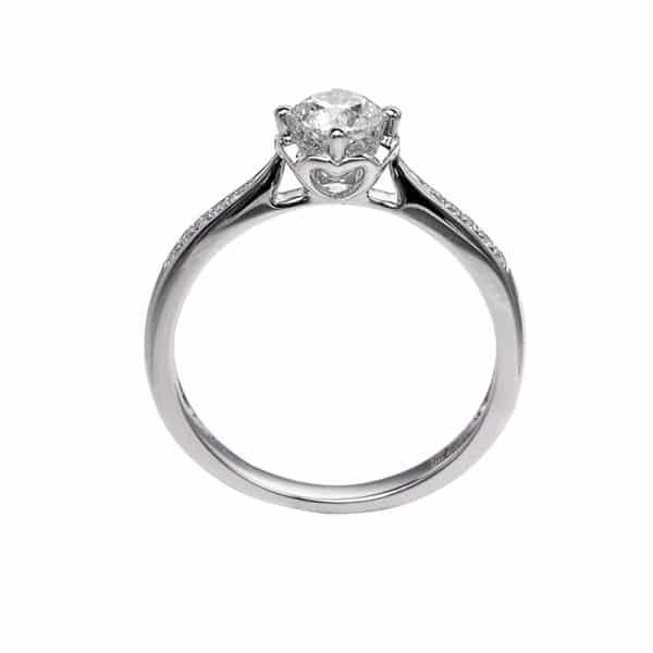 Perhiasan emas berlian white gold 18K diamond DHTXDFJ004
