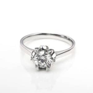 Perhiasan emas berlian white gold 18K diamond DHTXHJZ017