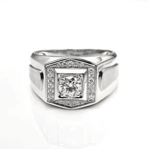 Perhiasan emas berlian white gold 18K diamond DHTXHJZ029