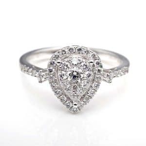 Perhiasan emas berlian white gold 18K diamond DHTXHJZ031