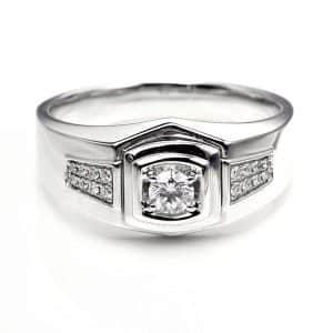 Perhiasan emas berlian white gold 18K diamond DHTXHJZ078