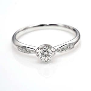 Perhiasan emas berlian white gold 18K diamond DJXJZ003