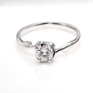 Perhiasan emas berlian white gold 18K diamond DJXJZ006