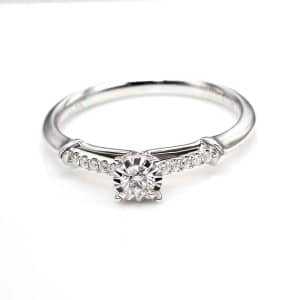 Perhiasan emas berlian white gold 18K diamond DJXJZ012