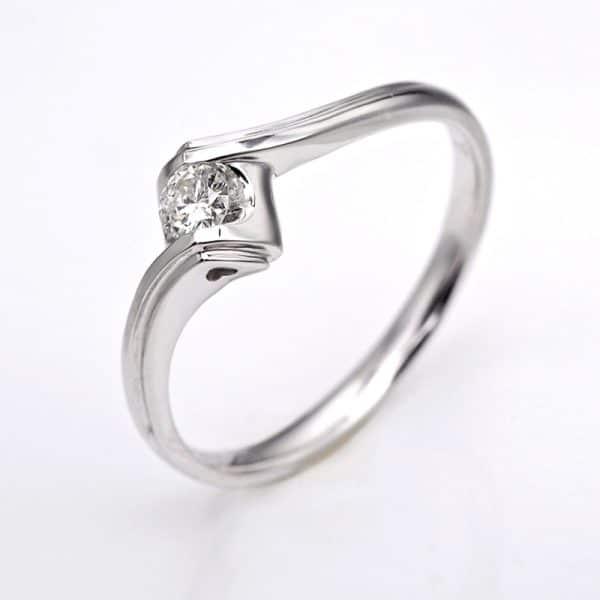 Perhiasan emas berlian white gold 18K diamond DJXJZ020