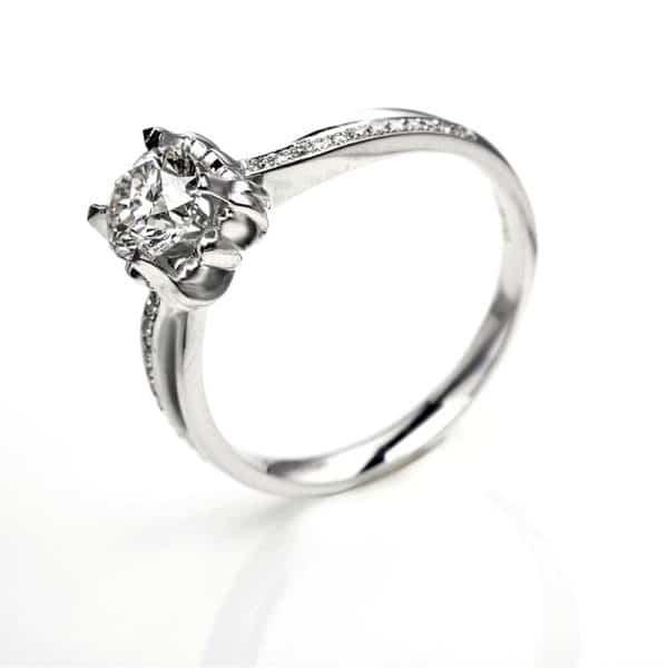 Perhiasan emas berlian white gold 18K diamond DJXJZ055