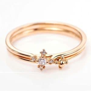 Perhiasan emas berlian white gold 18K diamond DMKMJZ009