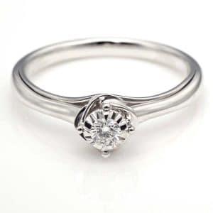 Perhiasan emas berlian white gold 18K diamond S-JXZ15486