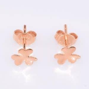 Perhiasan emas gold anting Clover Rose Gold 18K