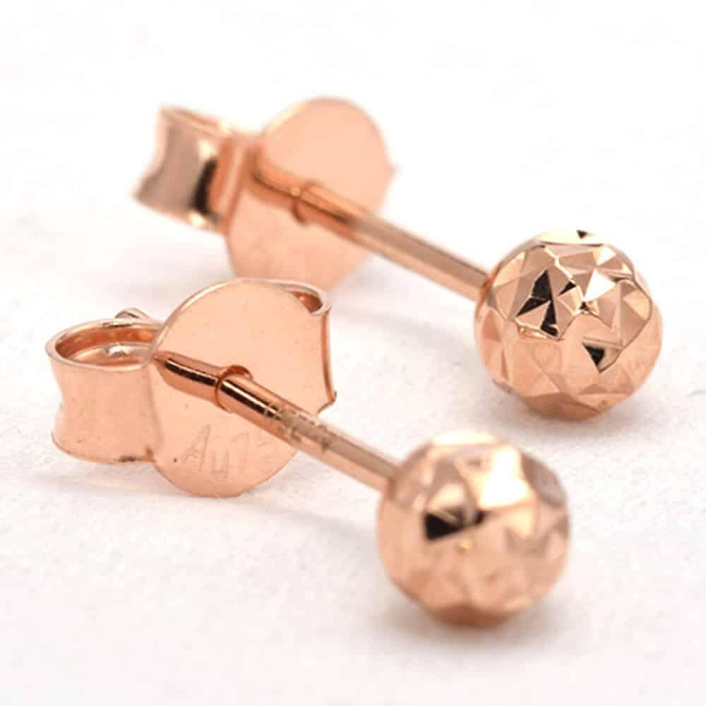 Perhiasan emas gold anting Sparkle Rose Gold Anting Emas 18K