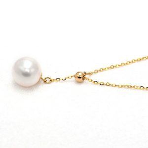 Perhiasan kalung emas gold necklace Pearl on Gold Adjustable Necklace Jewelry Kalung Emas 18K
