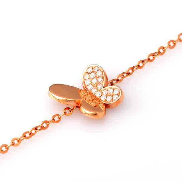 Tiaria 18K Gold Diamond Fluttering Butterfly Bracelet