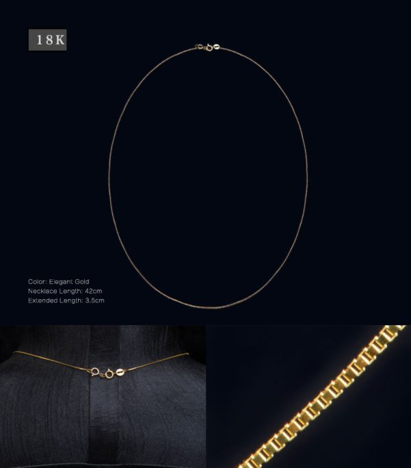 Perhiasan kalung emas gold Tiaria 18K Gold Necklace Top Design