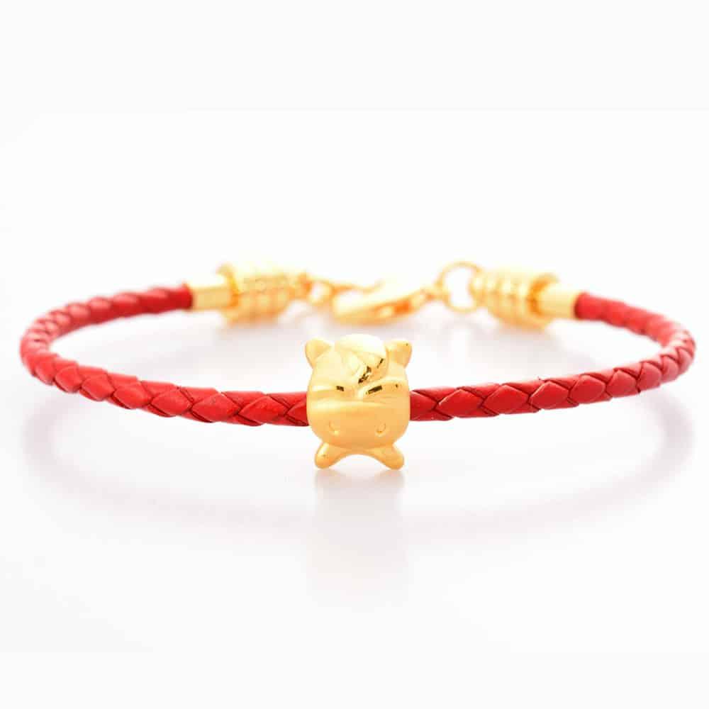 12 Zodiac Horse 24K Gold Charm Bracelet Perhiasan Gelang Emas
