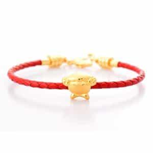 SHEEP - Perhiasan Emas 24k Tiaria Gelang emas charm bracelet (4)