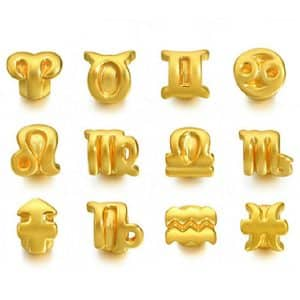 Western Zodiac Tiaria pendant perhiasan liontin kalung gelang emas