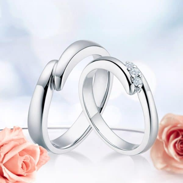 Tiaria 9K Connected Love Ring 3