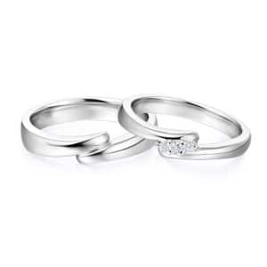 Tiaria 9K Connected Love Ring