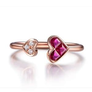 Tiaria 9K Pieces of Heart Ring