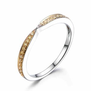 Tiaria 9K Dazzling Citrine Ring